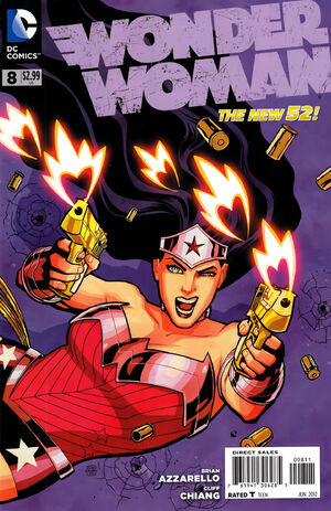 Cover for Wonder Woman #8 (2012)
