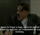 Hitler gets bad news on his birthday