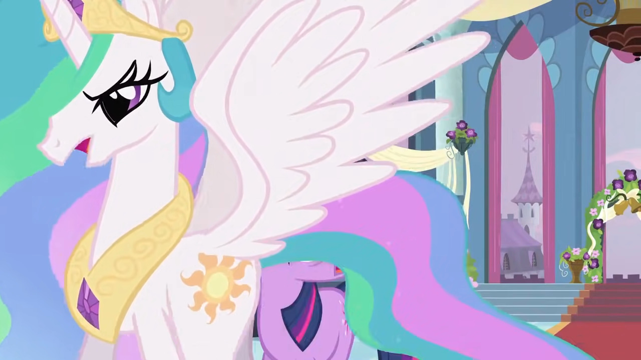 Celestia disappointed at Twilight