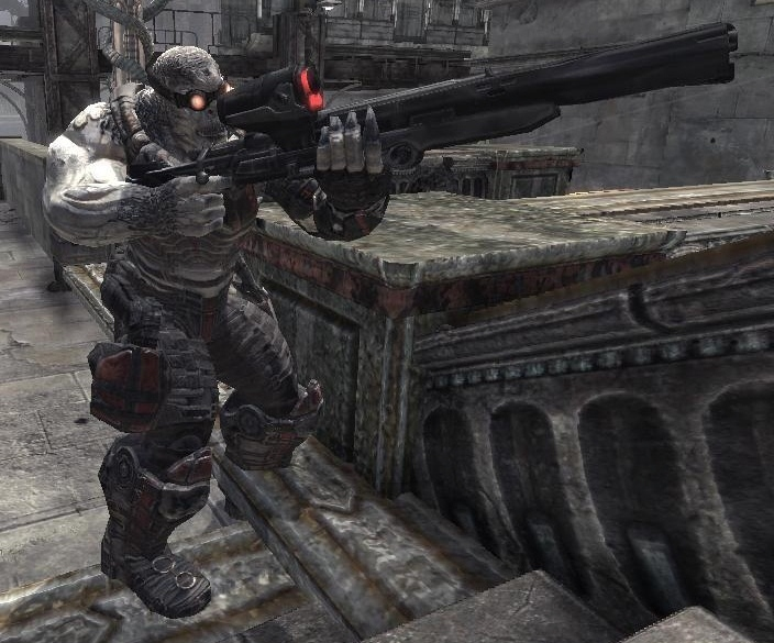 locust drone with Longshot Sniper Rifle on Mejores Juegos Xbox 360 104684 furthermore Gears Of War Ultimate Edition Pre Order Characters Exclusives together with Robots moreover Skorge  Gears of War additionally Minecraft Xbla Skin Pack 1 Details.