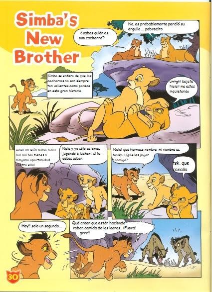 El nuevo hermano de Simba (cómic) Snewbrother1