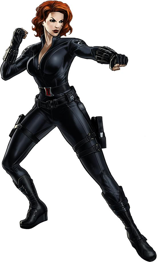 Black Widow Black Panther Marvel Avengers Alliance