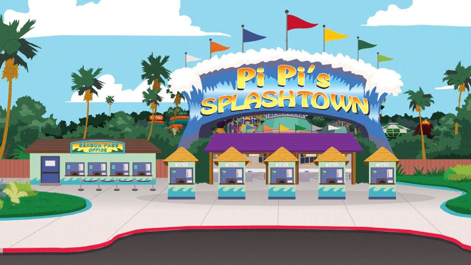 pi pis splashtown south park archives cartman stan