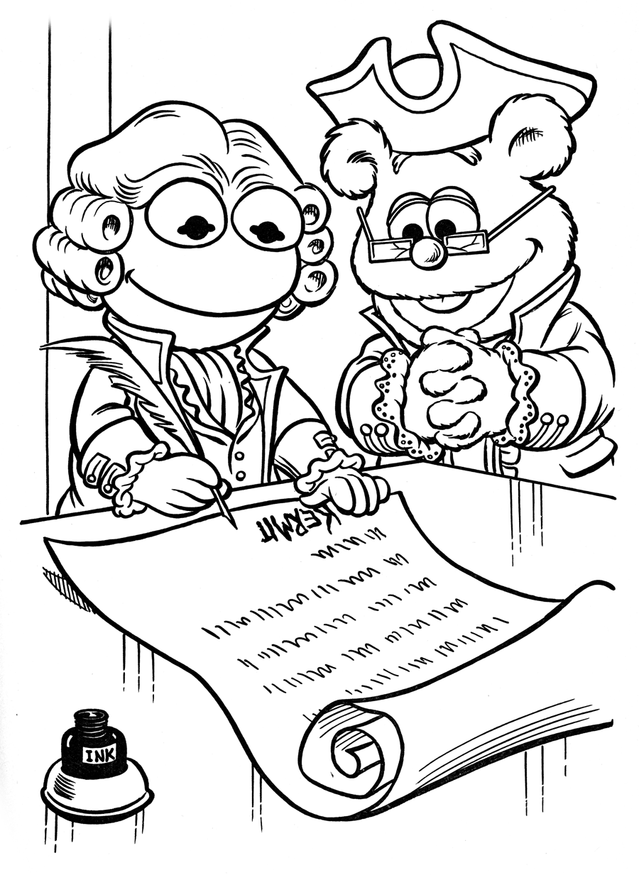The declaration of independence muppet wiki Coloring book wiki