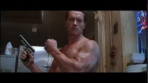 Terminator 2 Judgment Day Arnold Schwarzenegger Bar Fight Scene