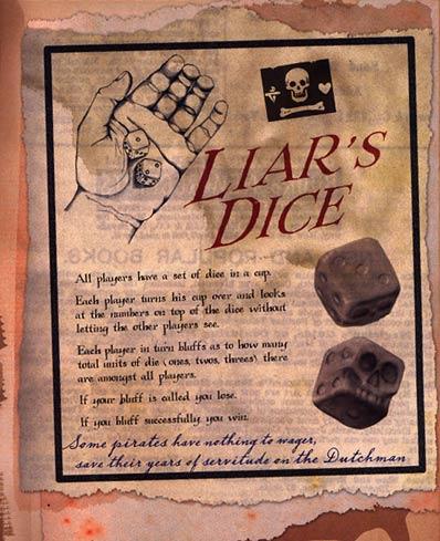 17 poker liar game rules