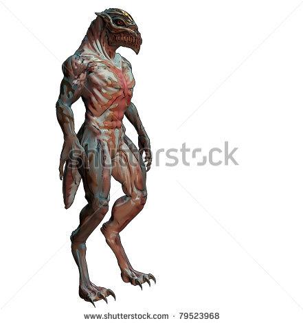 Image Stock Photo D Alien Monster With Sharp Beak And