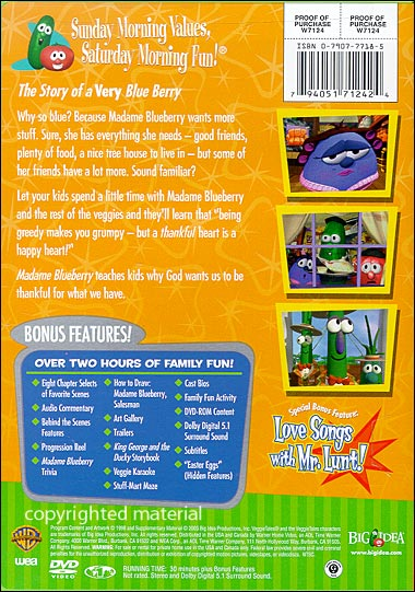 Veggietales Esther The Girl Who Became Queen Image - Blueberry 2003...