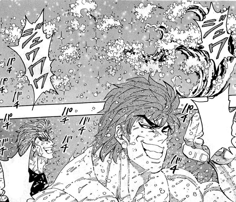 Toriko And Zebra Sprayed With Mellow Cola.jpg