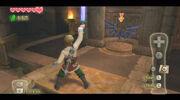 Link utilizando Rayo Celestial