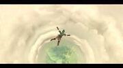 Link bajando a las Tierras Inferiores SS