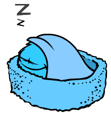 Image blue puffle sleeping png club penguin wiki the free