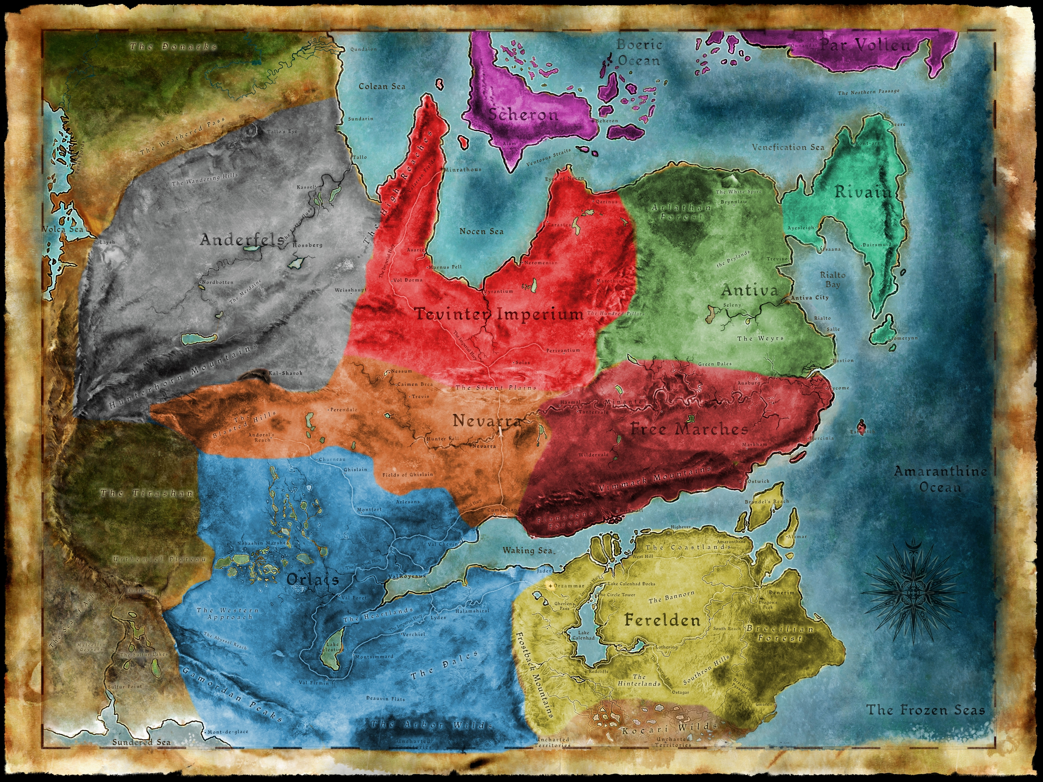 So I was looking at the map of Thedas... : dragonage