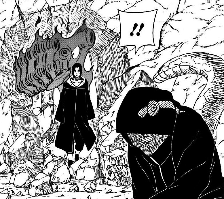 Itachi vs Jiraiya  - Página 2 Itachi_confronts_Kabuto