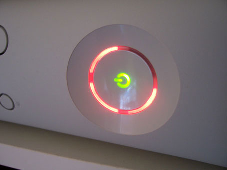 Xbox 360 technical problemsXbox 360 Power Button Red