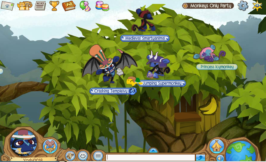 Monkeys only party animal jam wiki