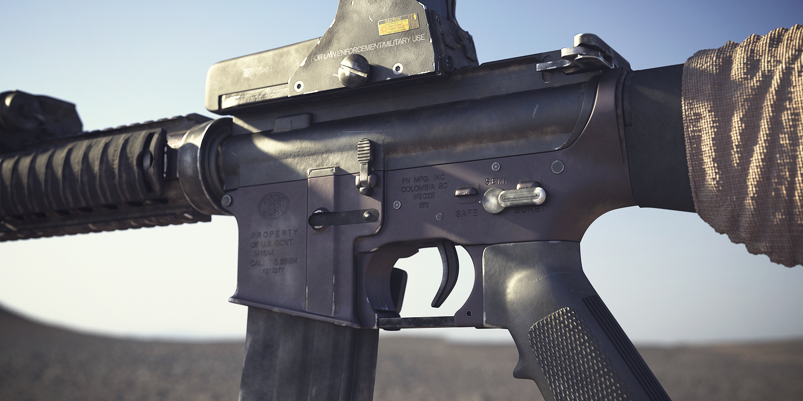 Image - BF3 M16A4 3D Model 1.png - Battlefield Wiki ... M16a4 Bf3