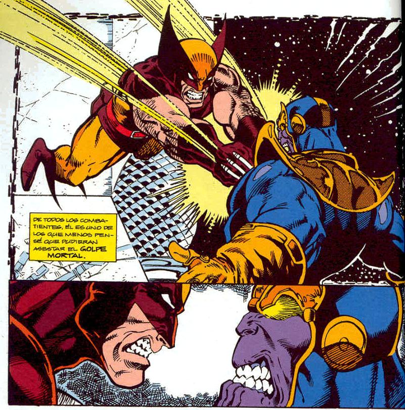 Imagen - Wolverine vs Thanos (Guantelete del Infinito ...