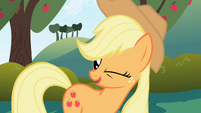 Applejack winks S01E01