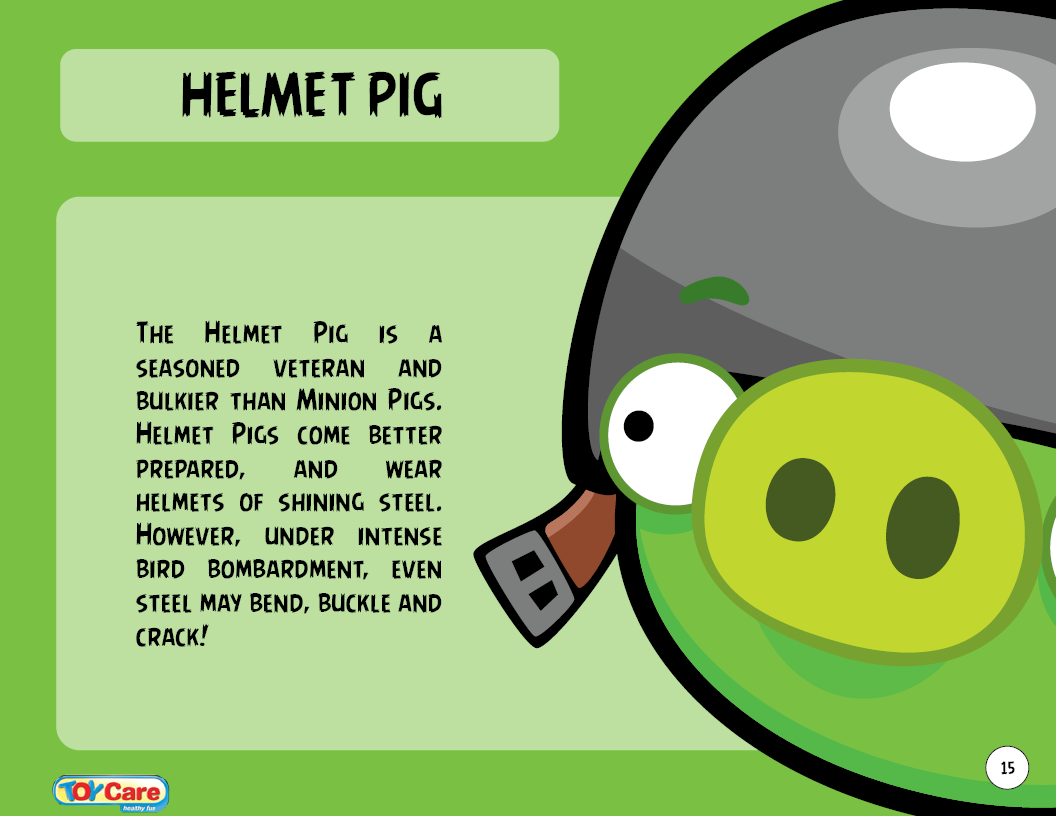 Image Size Chart Birds And Pigs Png: Helmet Pig Toy Care.PNG