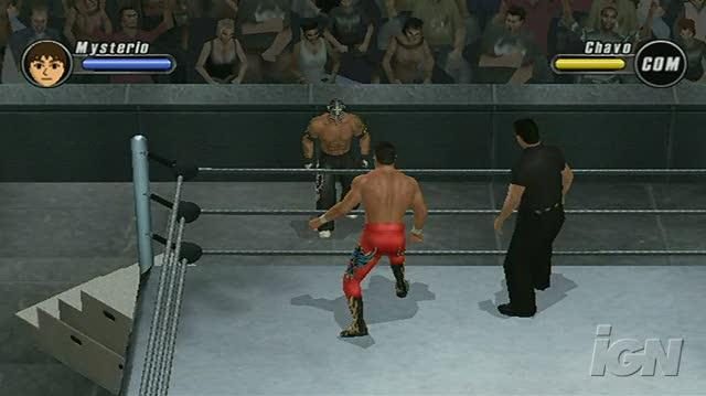 WWE SmackDown vs. Raw 2008 Nintendo Wii Gameplay - Mysterio Gets Busy