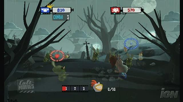 Rayman Raving Rabbids TV Party Nintendo Wii Gameplay - Night of the Zombidz (480p)