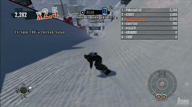Shaun White Snowboarding Xbox 360 Gameplay - Alaska Halfpipe Champ