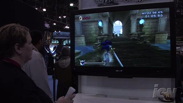 Sonic & The Black Knight Nintendo Wii Gameplay - NYCC 09 Castle Sprint