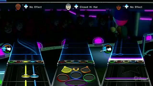 Band Hero Nintendo Wii Gameplay - Mii Rock