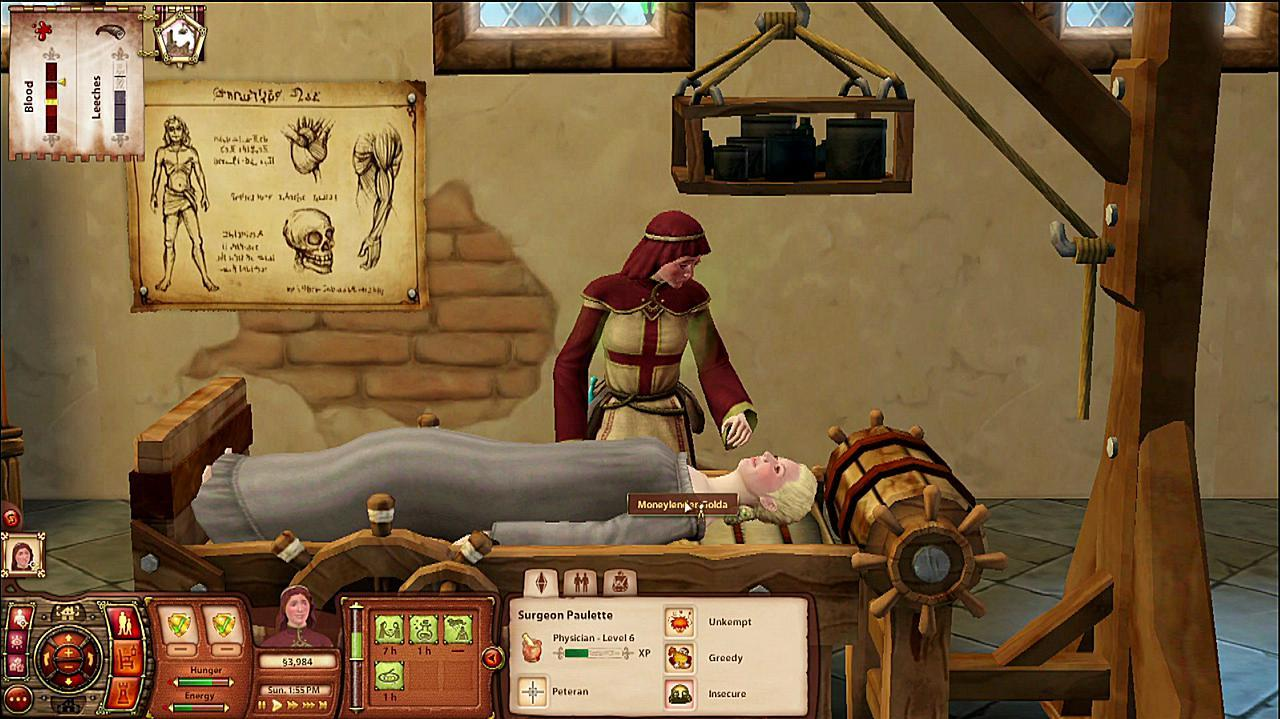 Sims Medieval Doctors Gameplay