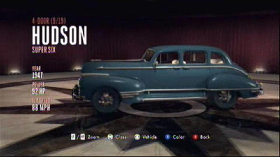 L.A. Noire Hidden Vehicles 4-Door - Hudson Super Six - Downtown, Central