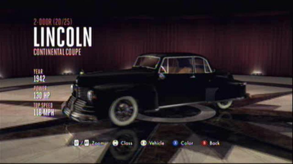 L.A. Noire Hidden Vehicles 2-Door - Lincoln Continental Coupe - Wilshire
