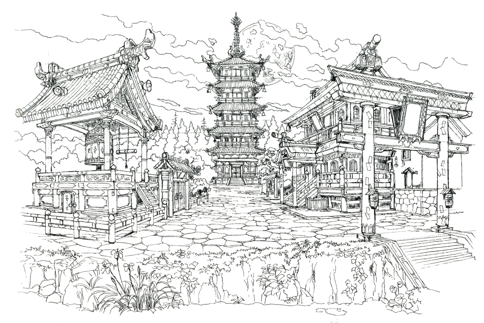 Wutai village the final fantasy wiki 10 years of for Final fortress blueprints