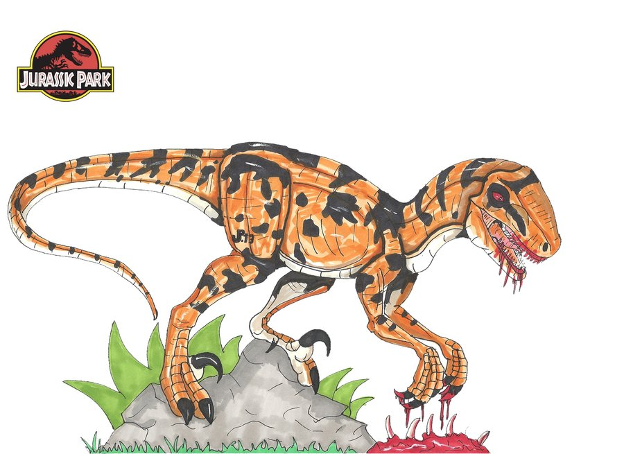 The gallery for --> Utahraptor Jurassic Park Toy