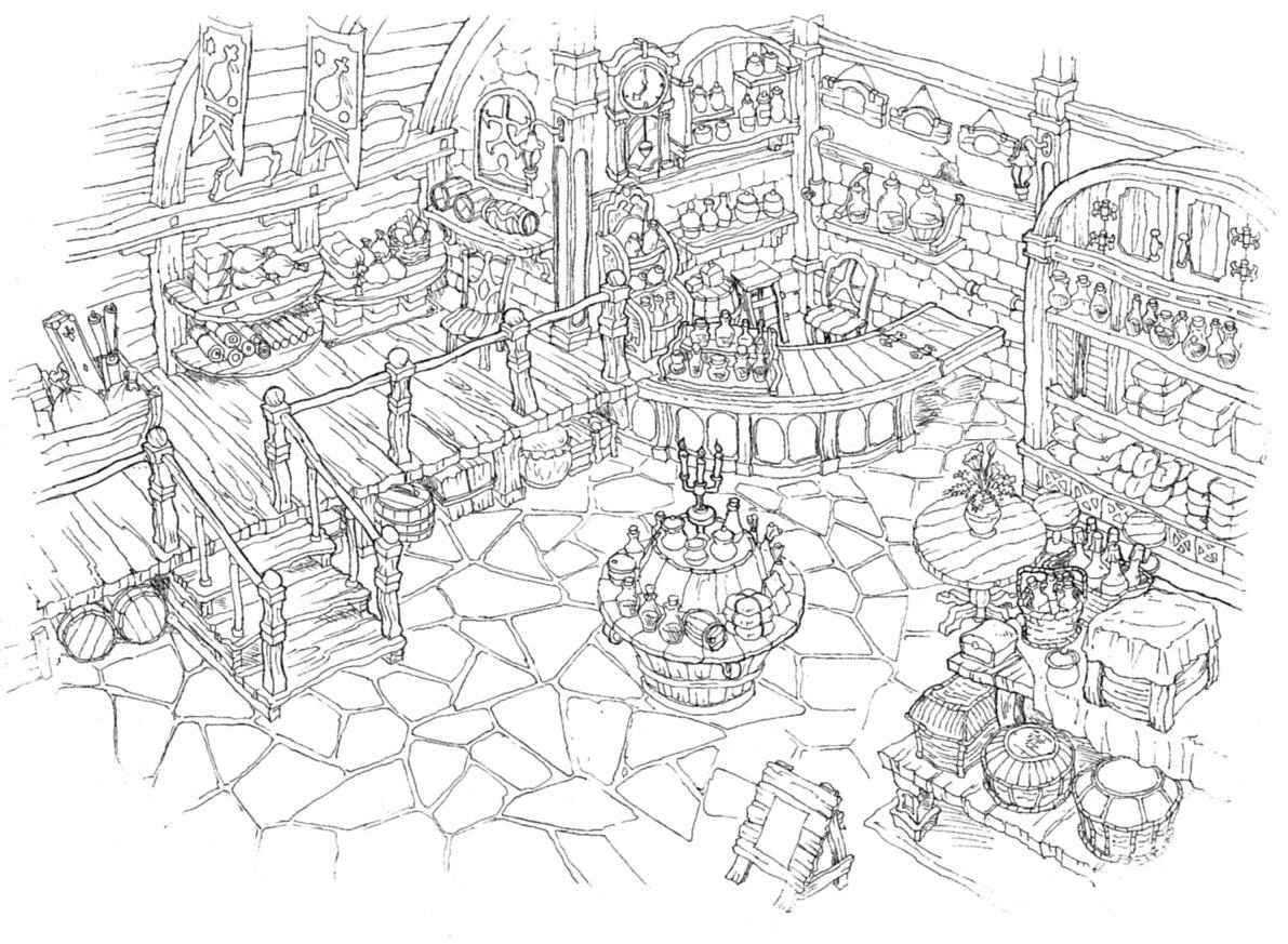 Image lindblum business district item shop ff9 for Final fortress blueprints