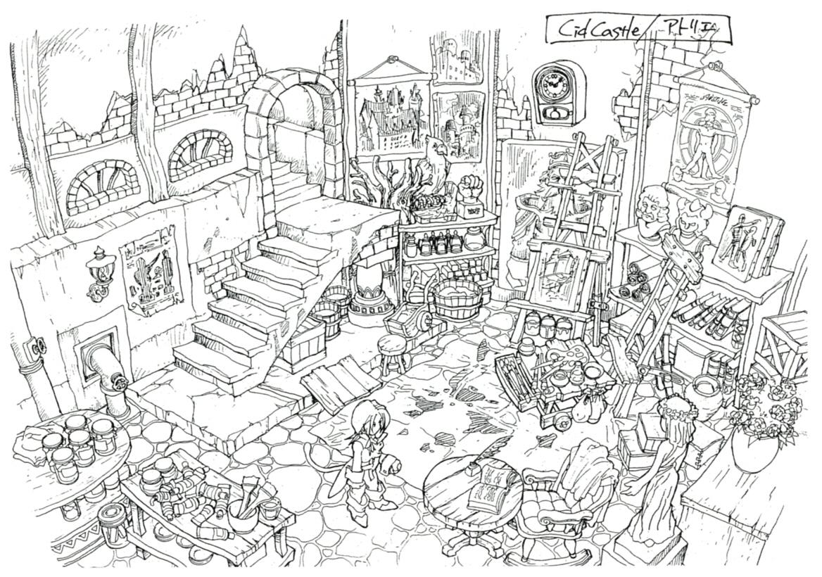 Image lindblum theater district art studio ff9 for Final fortress blueprints