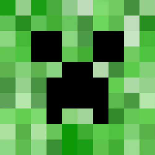 Pixelated Painting A Watercolor Minecraft Creeper The Start