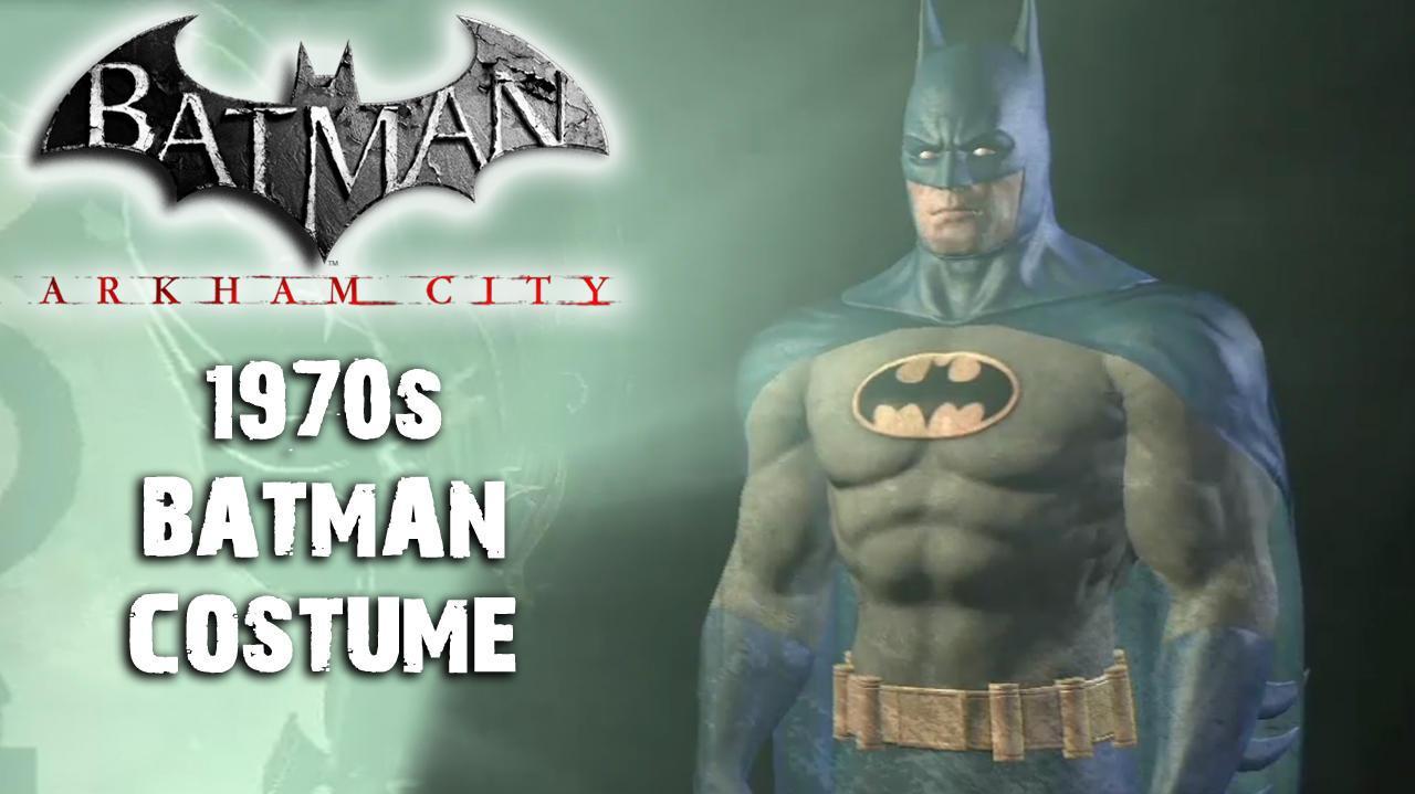 Batman Arkham City - 1970's Batman Costume