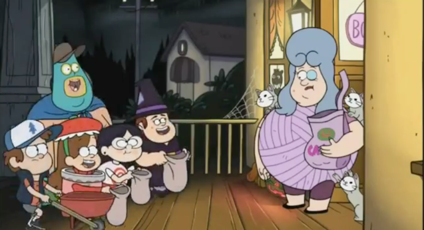 _Soos _Grenda _and_Candy_Chiu_asking_for_candy_from_Lazy_Susan