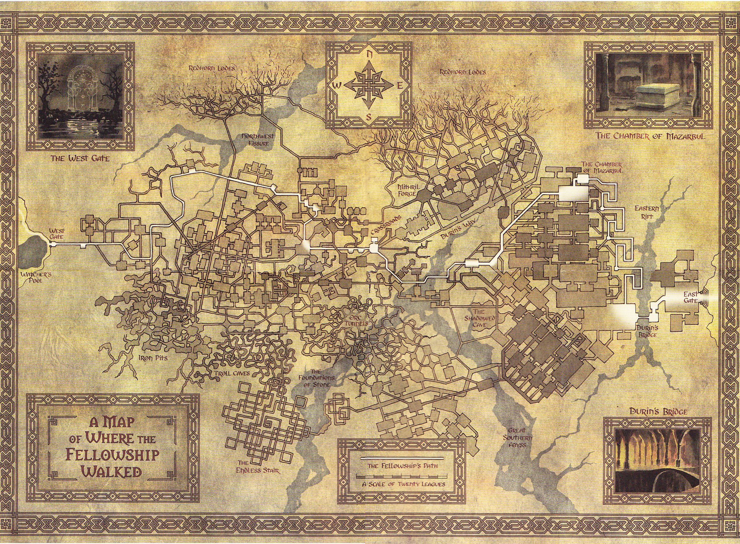 Wheres Where in Wonderland – Lord of the Rings Detailed Map