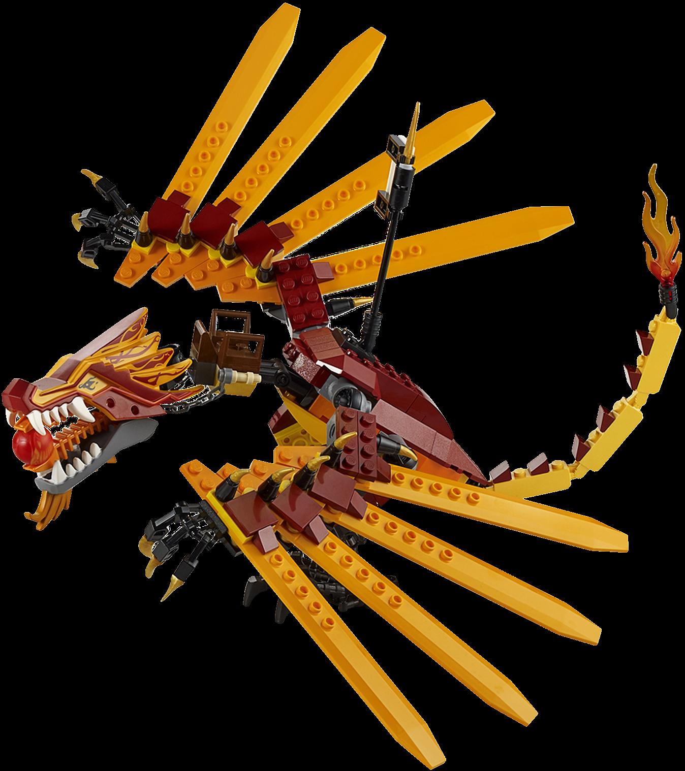 Lego Ninjago Dragon 2507 Fire Temple - Bri...