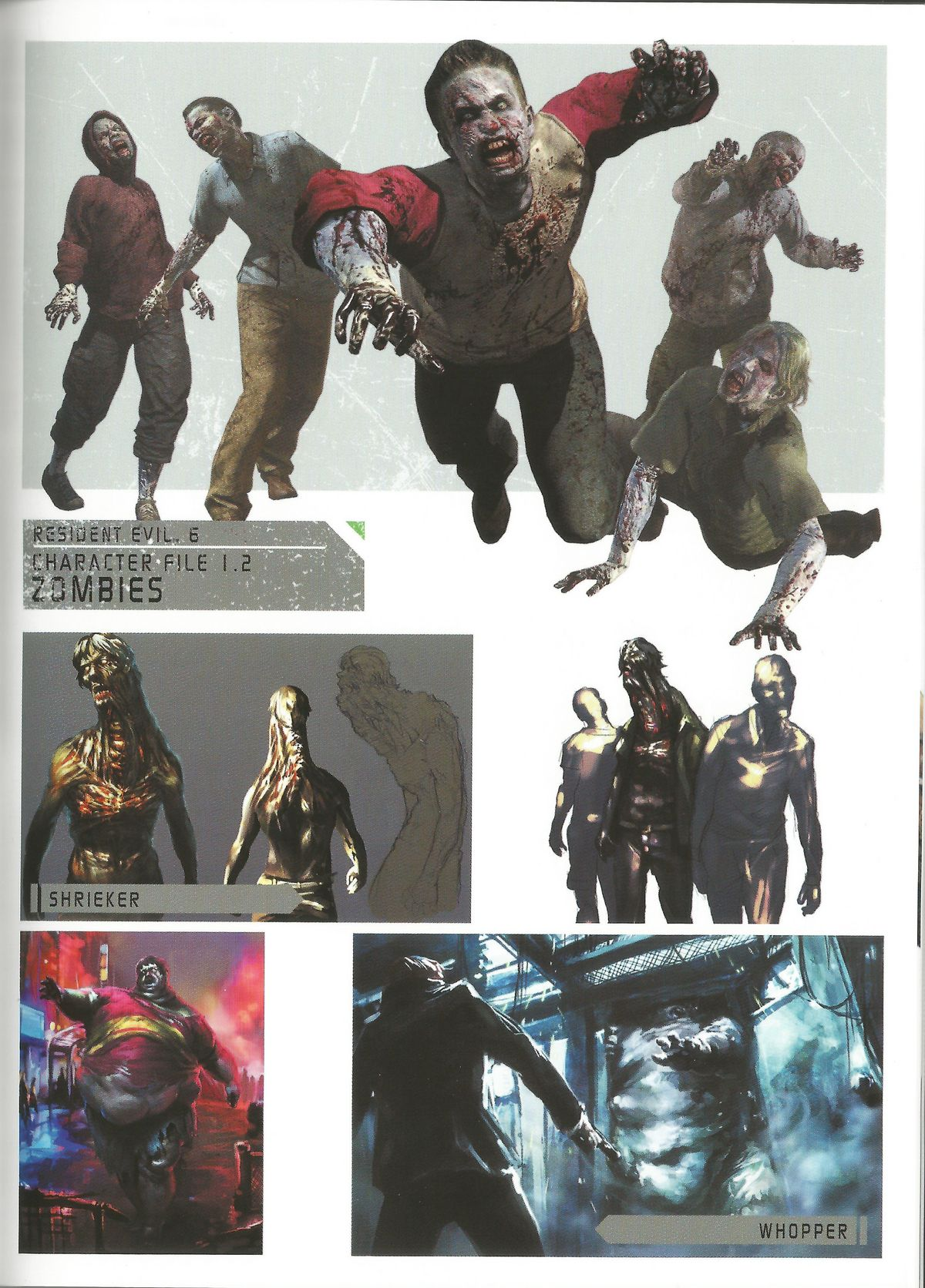 Chinese javo - characters  art - resident evil 6