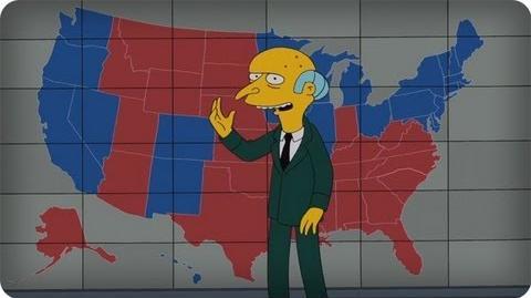 Sr. Burns, pede voto a Mitt Romney em vídeo irônico