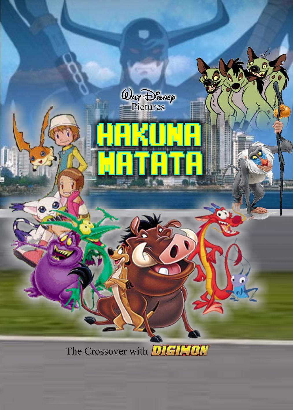 disney u0026 39 s hakuna matata  in the crossover with digimon