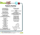 Mission to Mars Song Sheets