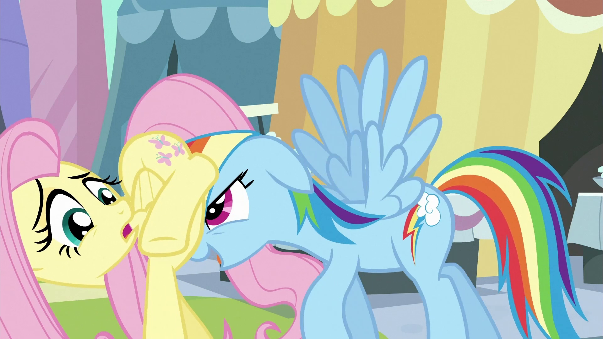 Image Rainbow Dash Moving Fluttershy Along S3e2 Png My