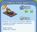 Papyrus Writing Station