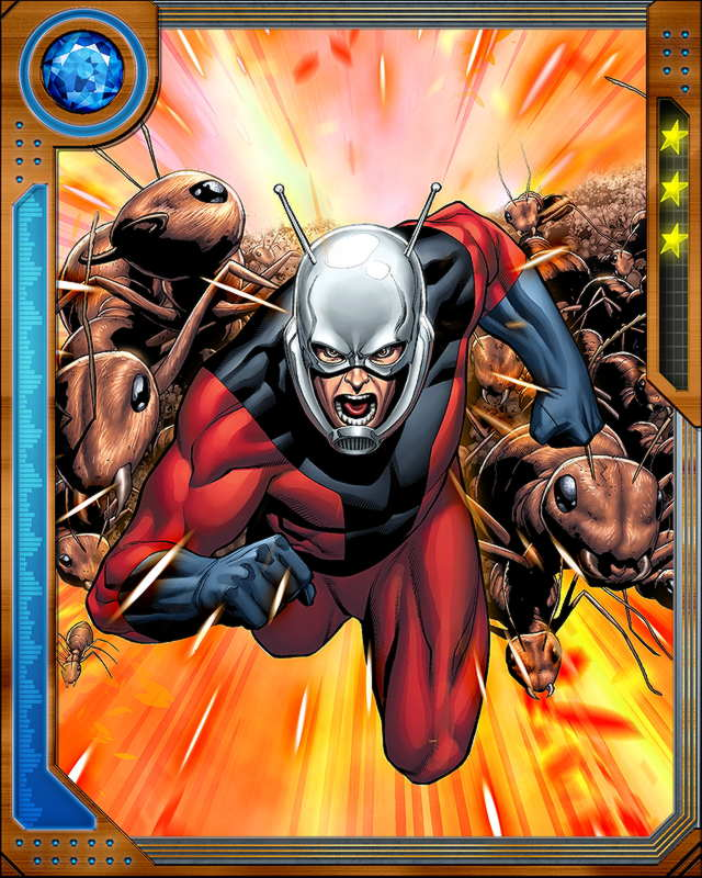 This is a graphic of Smart Marvel Heroes Ant Man