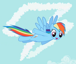 Rainbow Dash in front of cutie mark crop S02E08