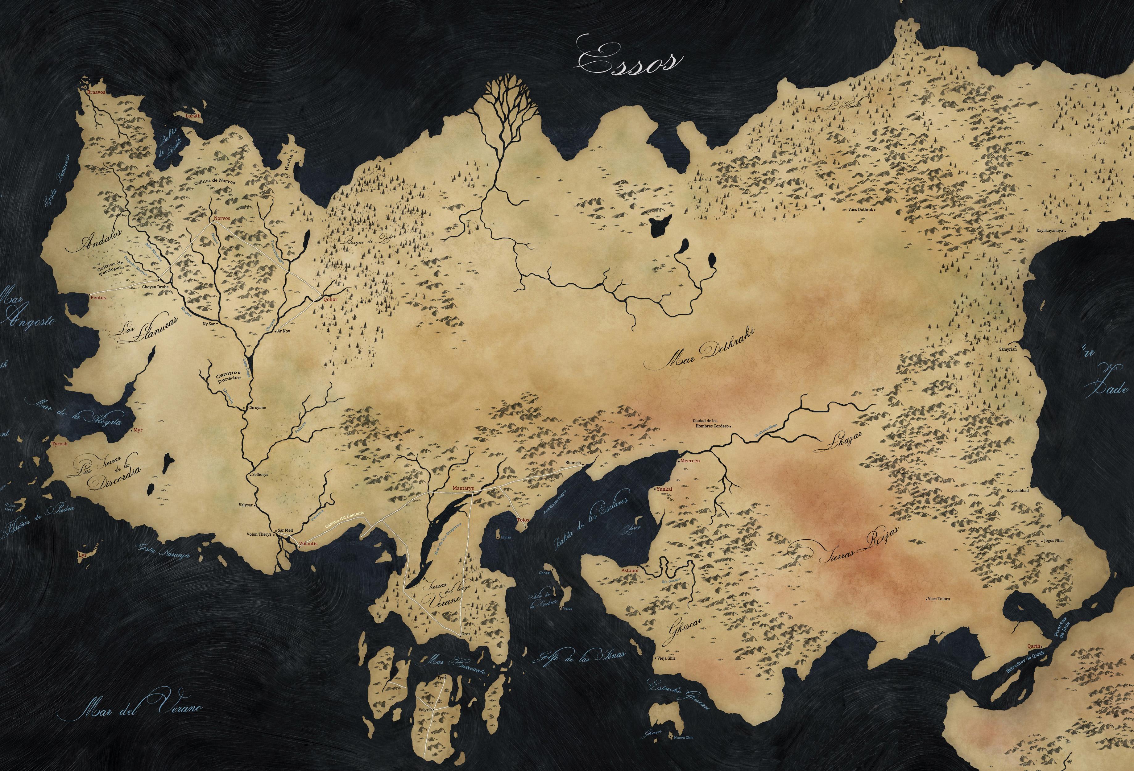 Essos.JPG (3676×2500) | Fantasy Maps | Pinterest
